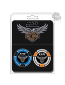 Harley-Davidson® 115th Anniversary Collector's Blue & Grey 2PK Poker Chips
