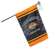 Harley-Davidson® Flaming B&S Applique House Polyester Flag