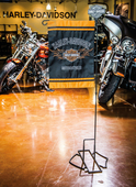 Harley-Davidson® B&S 3pc Knock Down Garden Iron Flag Stand