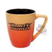 Harley-Davidson® H-D Font with Flames Ombre Fade Orange Mug