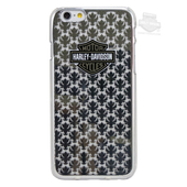 Harley-Davidson® Womens iPhone 6/6S B&S Fleur-De-Lis Electroplated Black Phone Shell