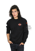 Harley-Davidson® Mens Loud Metal B&S Fleece Pullover Black Long Sleeve Sweatshirt *3D1*