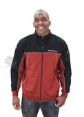 Harley-Davidson® Mens Chrome and Rubber B&S Mock Neck Full Zip Red Long Sleeve Sweatshirt