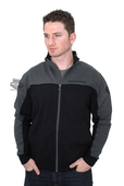 Harley-Davidson® Mens Chrome and Rubber B&S Mock Neck Full Zip Fleece Charcoal Long Sleeve Sweatshirt *3D2*