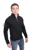 Harley-Davidson® Mens Handcrafted Engines Mock Neck 1/4-Zip Fleece Black Long Sleeve Sweatshirt *2DY*