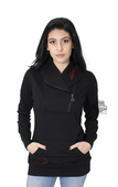 Harley-Davidson® Womens Master Sourced B&S Novelty Collar Pullover Black Long Sleeve Sweatshirt
