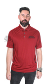 Harley-Davidson® Mens Spark Plug Blast with Mesh Piecing Red Short Sleeve Polo *18HR*