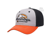 Harley-Davidson® Mens Screamin Eagle Homerun Colorblocked Grey Stretch Fit Baseball Cap