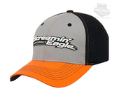 Harley-Davidson® Mens Pit Crew Screamin Eagle Colorblocked Black Stretch Fit Baseball Cap