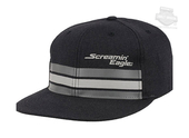 Harley-Davidson® Mens Streamline Flat Bill Screamin Eagle Black Stretch Fit Baseball Cap