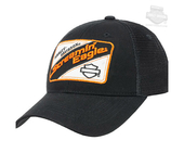 Harley-Davidson® Mens Mechanic Mesh Screamin Eagle Black Baseball Cap