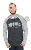 Harley-Davidson® Mens Screamin Eagle Banded Logo Pullover Charcoal Long Sleeve Hoodie