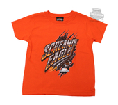 ** SMALL SIZES ONLY ** Harley-Davidson® Boys Youth Chrome Flame Pipes Screamin Eagle Orange Short Sleeve T-Shirt