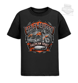 Harley-Davidson® Boys Youth Bike Crown Screamin Eagle Black Short Sleeve T-Shirt