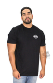 ** SIZE SMALL & LARGE ONLY ** Harley-Davidson® Mens Wind Hunter B&S Black Short Sleeve T-Shirt *1DY*