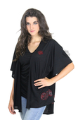 Harley-Davidson® Womens Rose Lace Embroidery with B&S Cardigan Black Half Sleeve by FCP Brands, Inc.