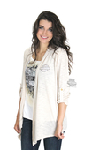 Harley-Davidson® Womens Dylatov Open B&S Cardigan Natural 3/4 Sleeve by FCP Brands, Inc.