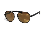 Harley-Davidson® HD203802G Matte Black Frame Brown Mirror Lens Sunglasses by Marcolin Eyewear