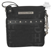 Harley-Davidson® Womens H-D Jacquard Slim Crossbody Black Cotton Blend Purse