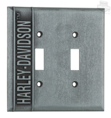 Harley-Davidson® H-D Name Double Switch Plate