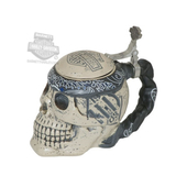 Harley-Davidson® B&S Logo Custom Skull Shaped Stein