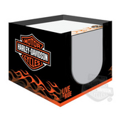 Harley-Davidson® Live To Ride Flames Note Cube