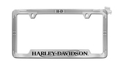 Harley-Davidson® Chrome Plated with Black Epoxy Fill License Frame