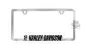 Harley-Davidson® Chrome Chrome License Frame #1 Dark Custom Skull