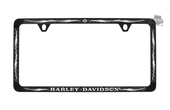 Harley-Davidson® B&S with Tribal Flames Black Coated 3M Carbon Fiber Inlay License Frame