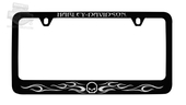 Harley-Davidson® Black Willie G Skull with Flames License Frame