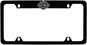 Harley-Davidson® Black Black License Frame 3D B&S Top