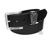 Harley-Davidson® Mens Gate Keeper Double Headed Eagle with B&S Black Leather Belt by LODIS *40th*