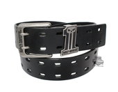 Harley-Davidson® Mens Double Down #1 Skull Logo Black Leather Belt by LODIS *CIJ*