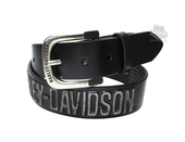 Harley-Davidson® Mens Highway to Hell H-D Name Black Leather Belt by LODIS