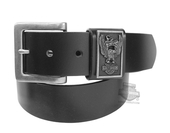 Harley-Davidson® Mens Eagle Rider B&S with Banner Black Leather Belt by LODIS
