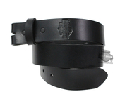 ** SMALL & BIG SIZES ONLY ** Harley-Davidson® Mens Plain & Simple B&S Strap Black Leather Belt by LODIS *40th*