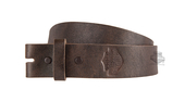 ** SMALL & BIG SIZES ONLY ** Harley-Davidson® Mens Plain & Simple Strap B&S Logo Brown Leather Belt by LODIS *40th*