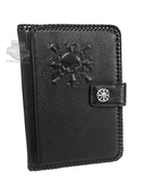 Harley-Davidson® Mens Epic Ride Embossed Willie G Skull with Fleur-de-Lis Design Mini iPad Black Leather Easel by LODIS *30HR*