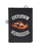 Harley-Davidson® Mens Hog Wild H-D Rocker Black Leather Trifold Wallet by LODIS *2D2*