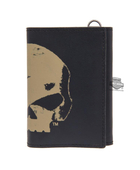 Harley-Davidson® Mens Skull Chop Willie G Black Leather Trifold Wallet by LODIS