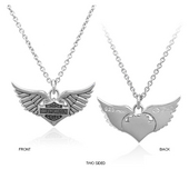 Harley-Davidson® .925 Silver Winged Heart Womens Necklace