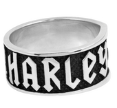 ** BIG SIZES ONLY ** Harley-Davidson® .925 Silver Rock'n'Roll Rider Ring