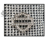 Harley-Davidson® Womens Saturday Night Crystal Encrusted B&S Allover Crystal Embellishment Crossbody Leather Hip Bag by LODIS HDWBA10237