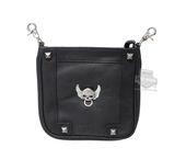 Harley-Davidson® Womens Secret Crystal Willie G Skull Embellished Black Leather Hip Bag by LODIS *72HR* HDWBA11080-BLK