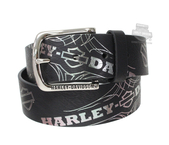 Harley-Davidson® Womens Mirage Pinstriping with B&S Black Leather Belt by LODIS