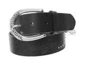 Harley-Davidson® Womens Road Queen Studded with Willie G Skull Black Leather Belt by LODIS