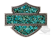 Harley-Davidson® Womens Sweet Zone Turquoise Stones Turquoise Buckle by LODIS *72H2*