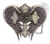 Harley-Davidson® Womens Back Roads B&S with Winged Cross Embellished Buckle by LODIS