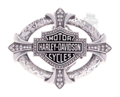Harley-Davidson® Womens Relic Studded B&S with Rhinestones Buckle by LODIS *48HR*
