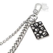 Harley-Davidson® Womens Galaxy Swag Multi Willie G Skull with Crystals Hip Chain by LODIS *40th*